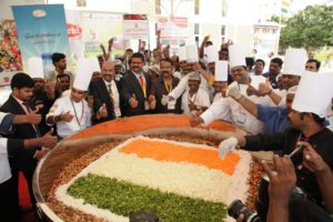 Guinness World Records title for the attempt of Largest Bean Salad by Chef M.S.Rajmohan